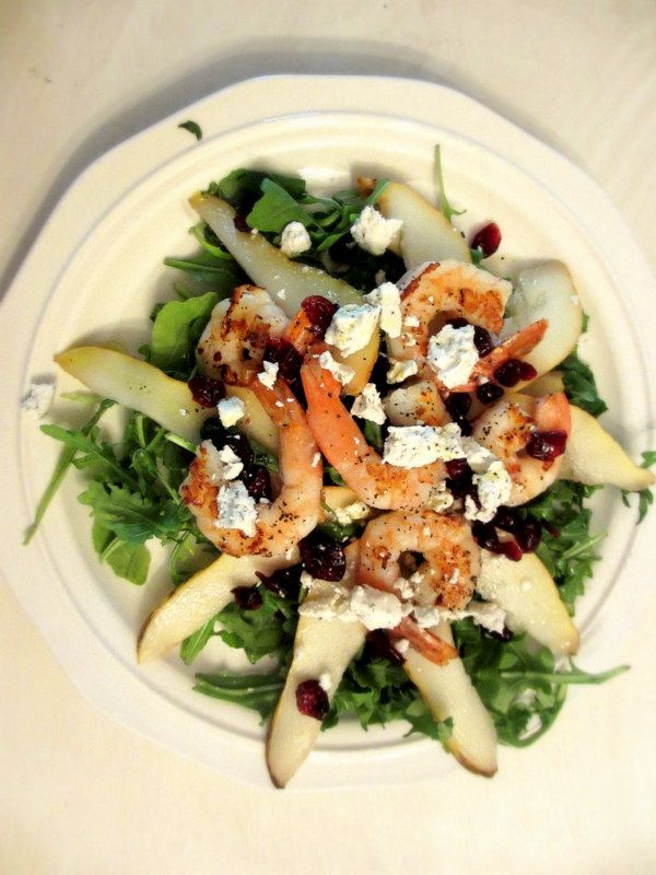 Shrimp, Arugula and Cranberry Salad | recipes | Pinterest
