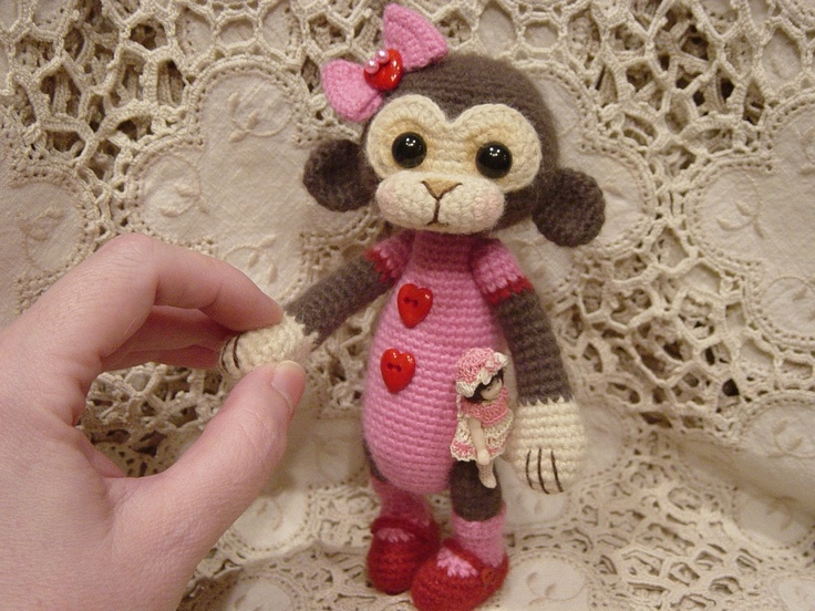 Crochet Monkey : Crochet Monkey Things to Knit Pinterest