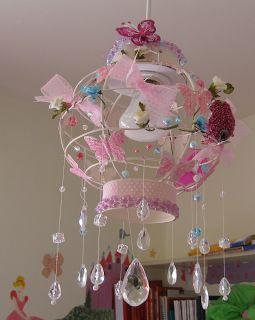 Diy little girls room chandelier crafts inspiration for Diy little girls room