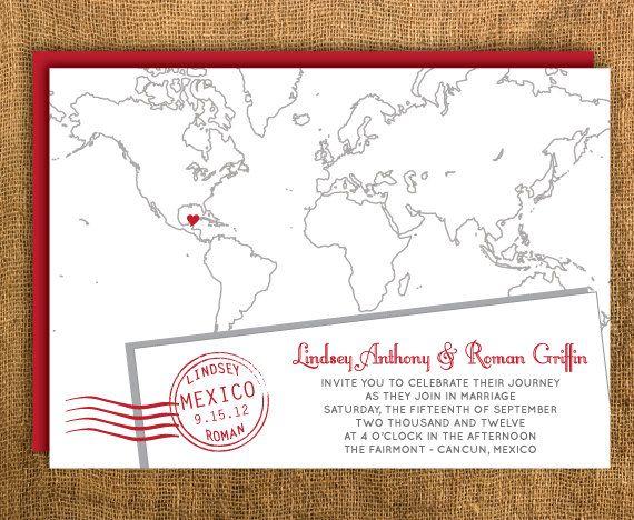 Printable Map Wedding Invitation Amp Reply Card