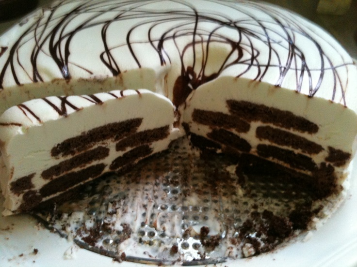 Mint Chocolate Ice Box Cake | Yummy | Pinterest