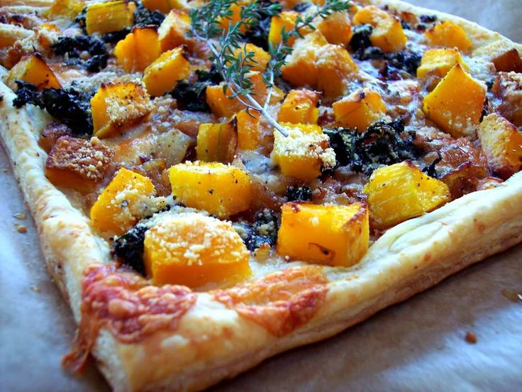 Squash Tart with Caramelized Onions and Kale - Proud Italian