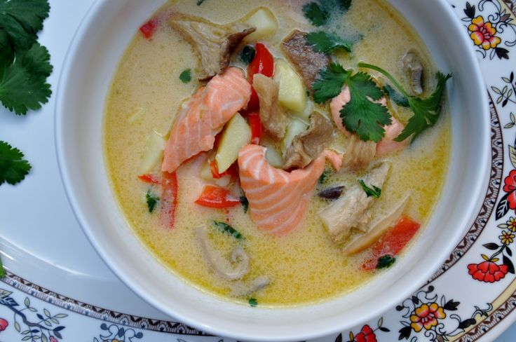 Thai Coconut Salmon Chowder from SeaFoodLadyOrlando
