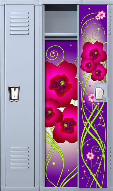 purple flower locker wallpaper set locker decorations