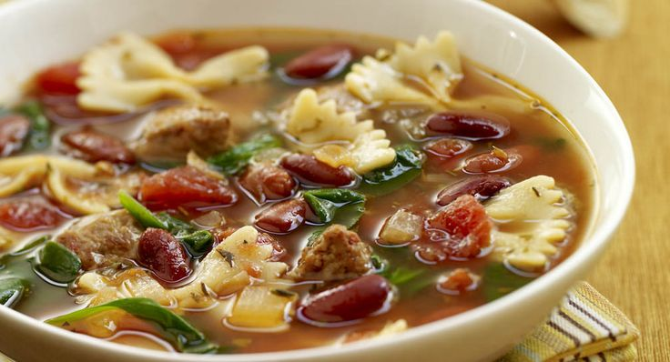 Sweet Italian Sausage Dinner Recipes | Italian Style Soup with Turkey ...