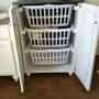 Laundry basket dresser to keep dirty clothes hidden!
