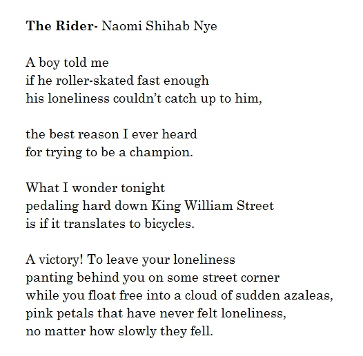 poem analysis by naomi shihab nye What is the message of naomi shihab nye's poem, famous follow  4 answers 4 report abuse  what is the analysis of famous by naomi shihab nye.