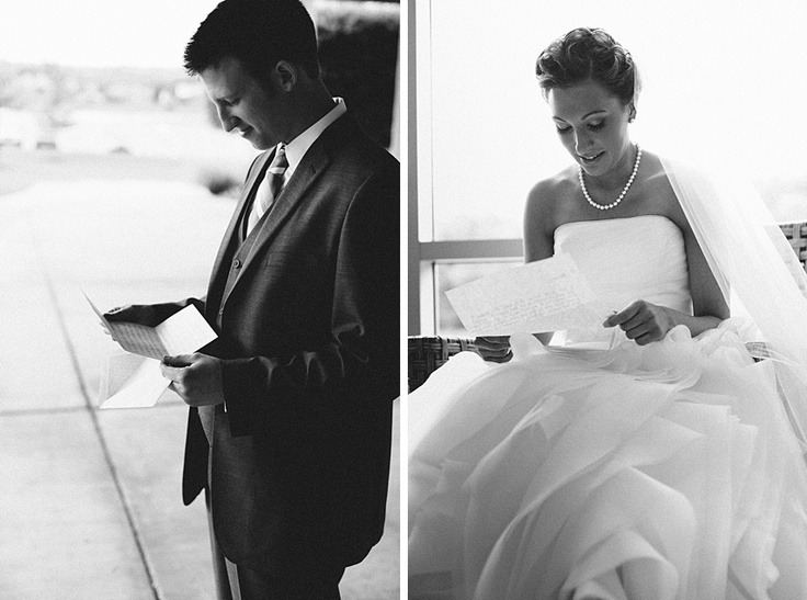 wedding day letters- great idea!