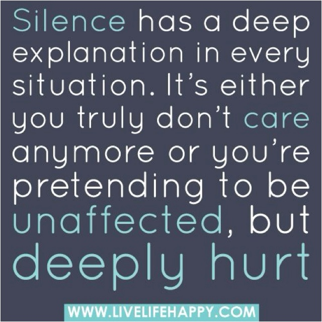 Silence... | Quotes I Love | Pinterest Quotes About Silence And Love
