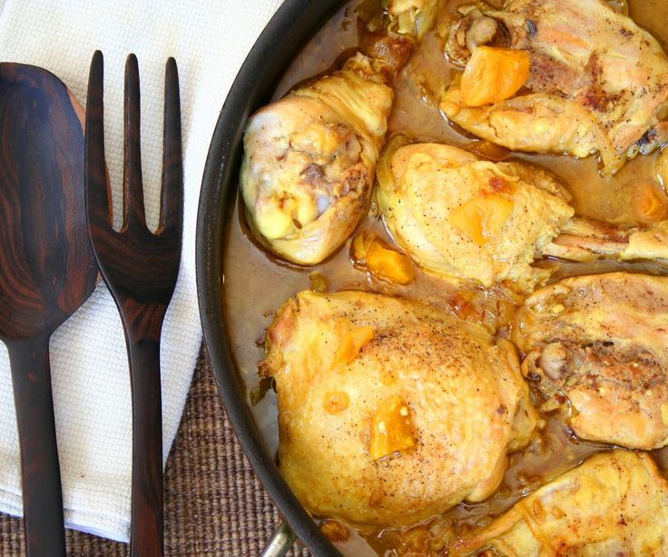 Chicken Tagine with Apricots and Almonds (Secret Recipe Club) | All ...