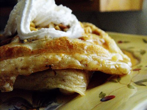 banana nut buttermilk waffles | Food | Pinterest