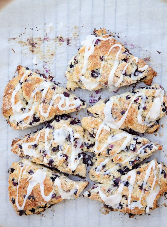 Wild Blueberry Scones with Lemon Glaze | recipes from bite by michell ...