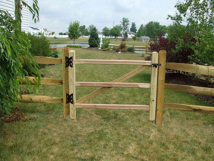 Split Rail Fence Gate Garden Ideas Pinterest