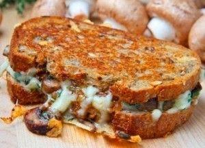 Grilled Mushroom Sandwich (I will add spinach)