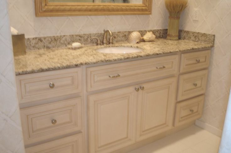 Antique White Bathroom Cabinets