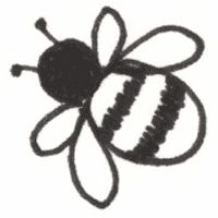 Simple bee drawing - photo#7