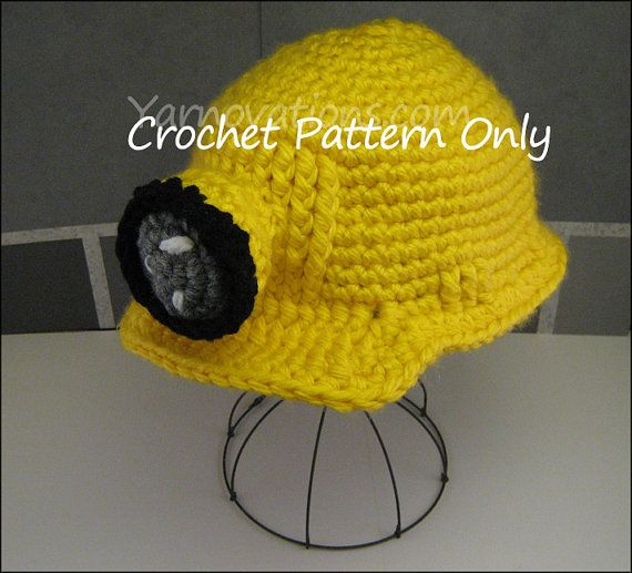 Crocheting Is Hard : Hard Hat and Mining Set Crochet Pattern Hats I love Pinterest