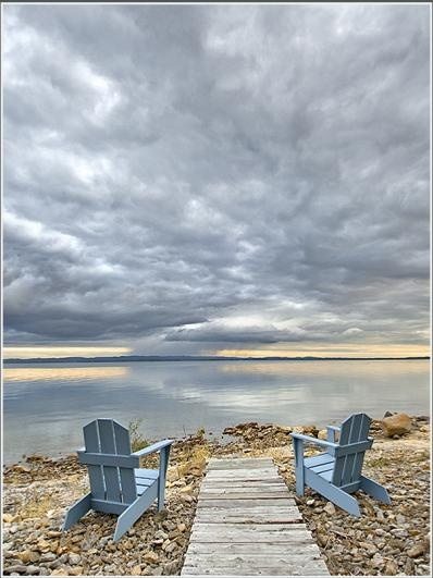Manitoulin Island, Ontario - the north shore is covered in fossil rocks.