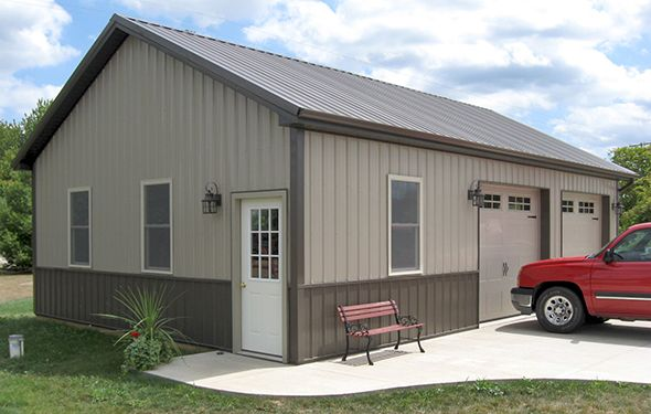 Two Tone Exterior Color Barns Pinterest