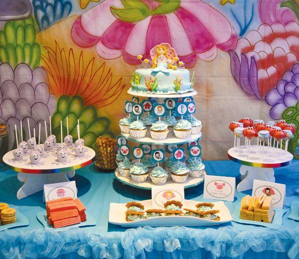 Adorable under the sea party balloon wall backdrop hostess with