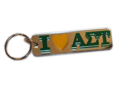 Alpha Sigma Tau Sorority I Love Keychain - $5.99