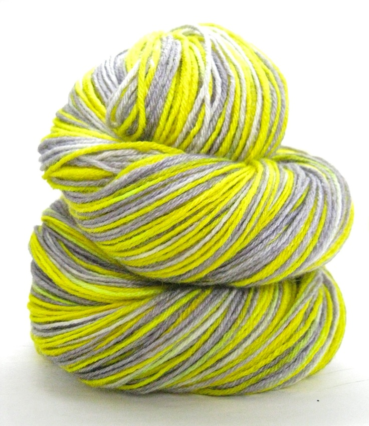 Hand Dyed Yarn - Superwash BFL and Bamboo, Lustre Sock Yarn in Caution ...