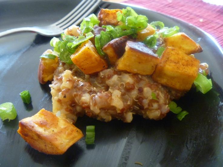 Sweet Potato Garnet Pilaf #vegan #glutenfree #quinoa