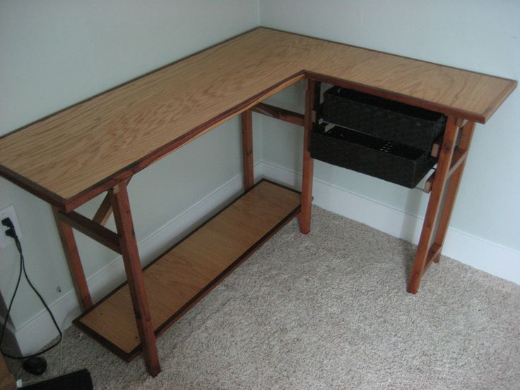 computer desk made from recycled wood | Koupals recycled wood and dec ...