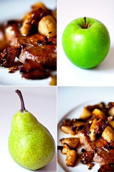 Greedy Gourmand: Pork chops with apples, pears & maple syrup