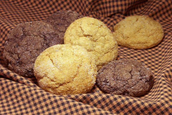 pumpkin molasses cookies. fluffy!