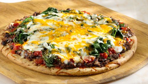 Mexican Black Bean Pizza - Could be a good #MarchMadness snack!