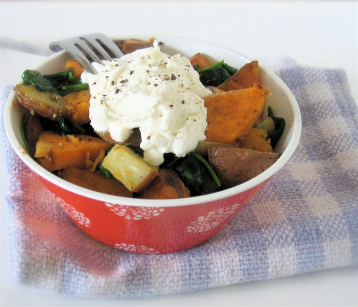 Mixed potato-vegetable hash with ricotta | veggie mains and sides | P ...