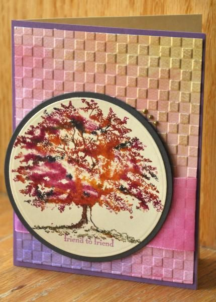 HYCCT1326 Rosy Autumn Tree | Card Making ideas | Pinterest