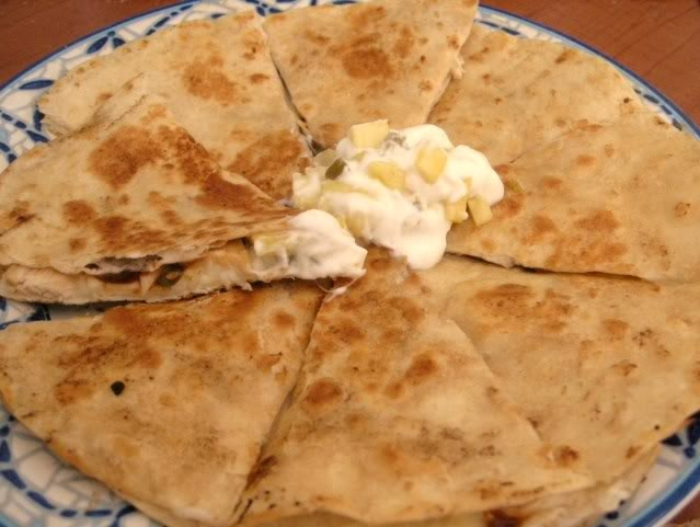 Jolene's Recipe Journal: Grilled Chicken and Pineapple Quesadilla