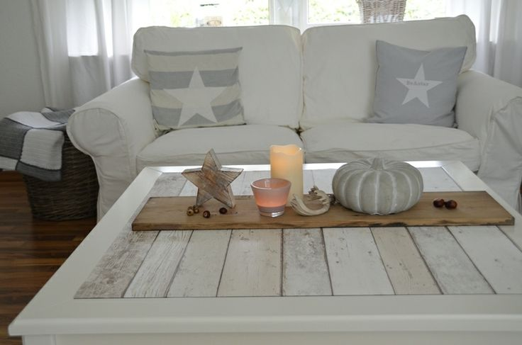 Ikea Liatorp Coffee Table With Wood Planks Instead Of Glass Home