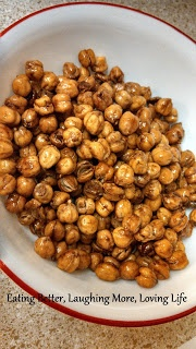 Honey Cinnamon Roasted Chickpeas | Yummy Recipes | Pinterest