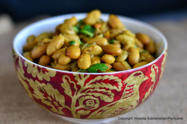 dish a day : Day 82 - Fresh cranberry bean curry
