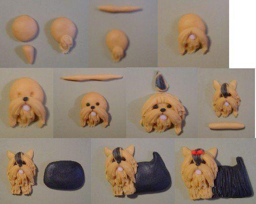Собака из полимерной глины