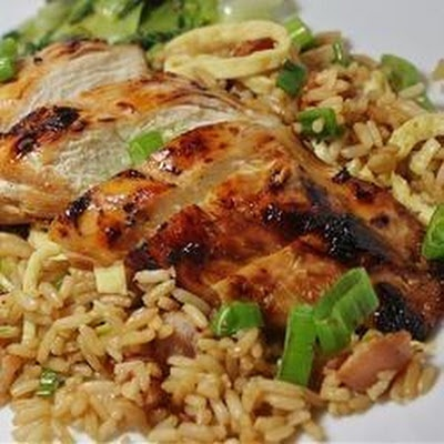 Grilled Asian Chicken: ¼ cup soy sauce, 4 teaspoons sesame oil , 2 ...