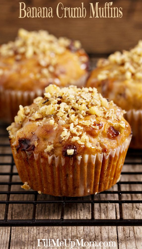 Banana Crumb Muffins | Food - Breads/Muffins | Pinterest
