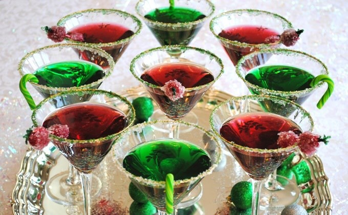 GREEN APPLETINI 2 oz. Sour Apple Schnapps 2 oz. Vodka 2 oz. Apple ...