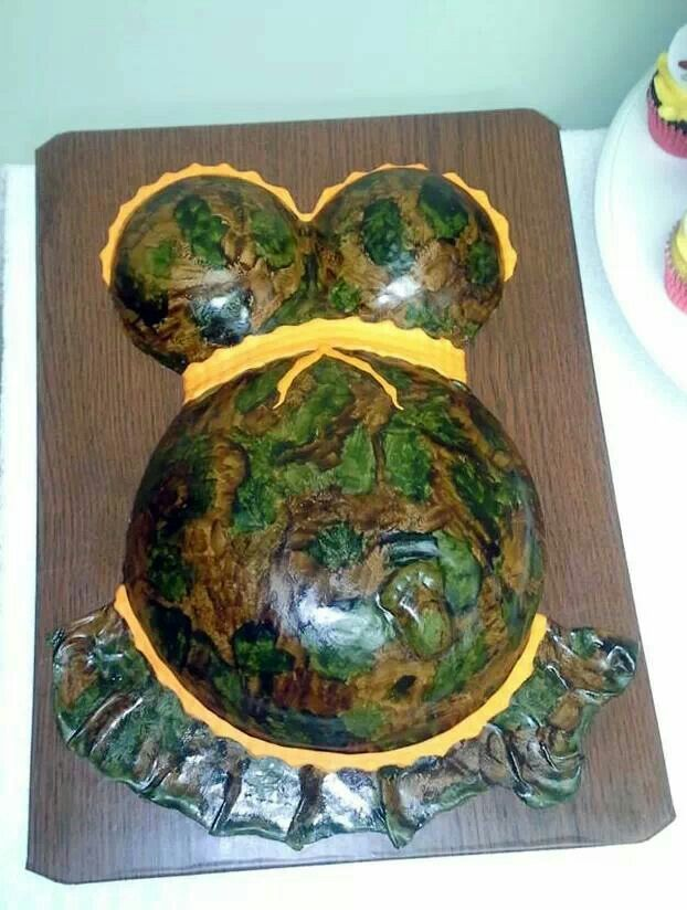 camo baby shower cake ideas and designs