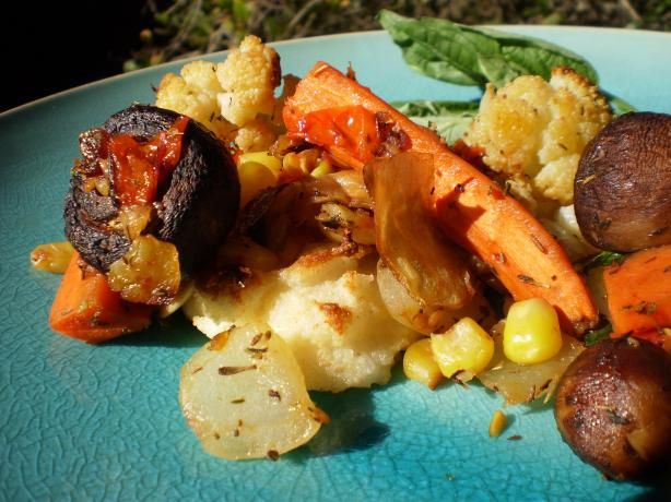 Roasted Vegetable Ragout With Polenta | Recipe
