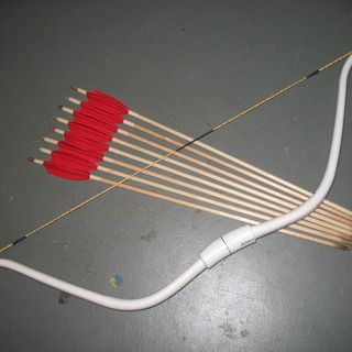 Pvc bows and arrows build along diy non food items for Kids pvc bow