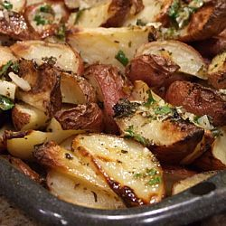 Greek Roasted Potatoes with Lemon Vinaigrette