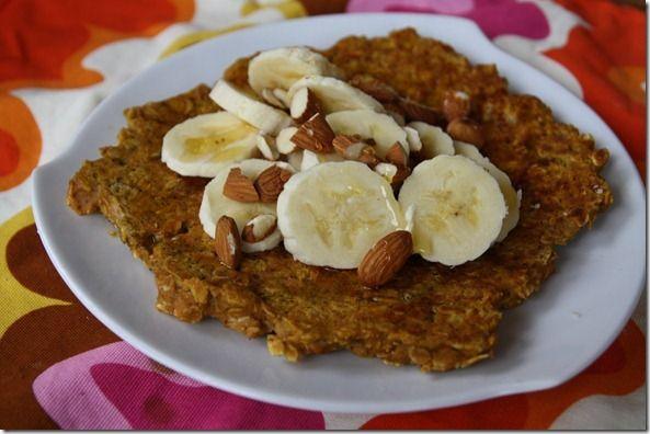 Gingerbread Pumpkin Oatmeal Pancake | Breakfast | Pinterest