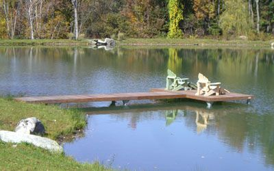 Pin by karla murphy on for the home pinterest for Small pond dock plans