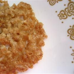 Butterscotch Lace Cookies ~ Allrecipes.com