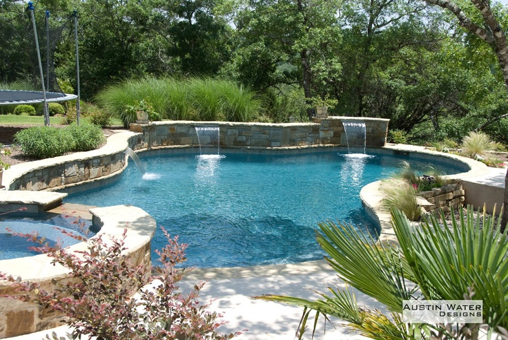 free form pool design all things outdoor pinterest. Black Bedroom Furniture Sets. Home Design Ideas