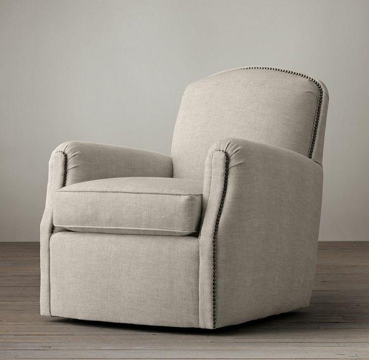 Keaton Upholstered Club Swivel Chair Swivel Option